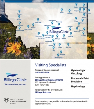 Visiting Specialists