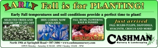 Early Fall is for Planting