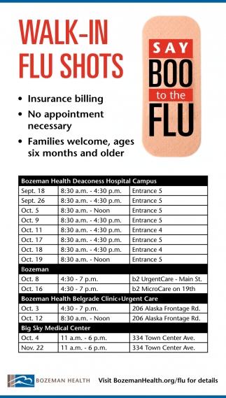 Walk-In Flu Shots