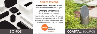 End of Summer Lawn Party & Sale