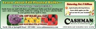Fall-Pnated Bulbs