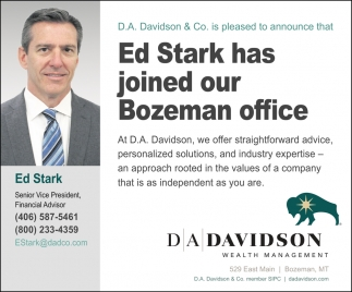 Joined Our Bozeman Office