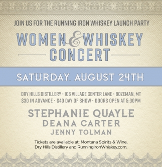 Women & Whiskey Concert