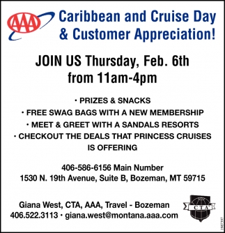 Caribbean and Cruise Day & Customer Appreciation!
