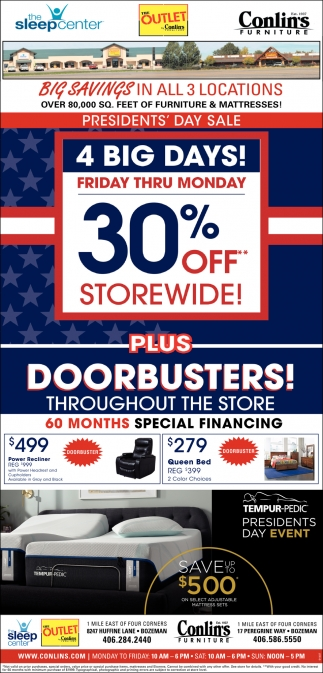 Big Savings in All 3 Locations
