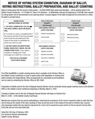 Notice of Voting