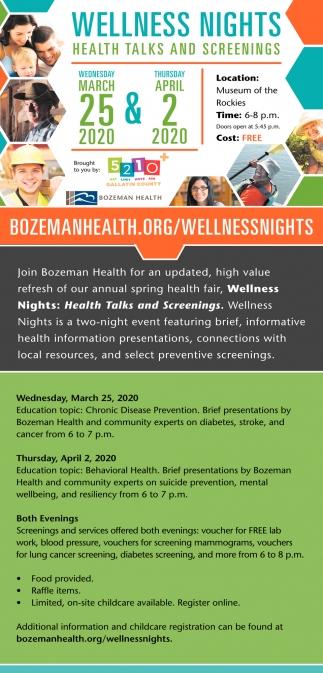 Health Talks and Screenings
