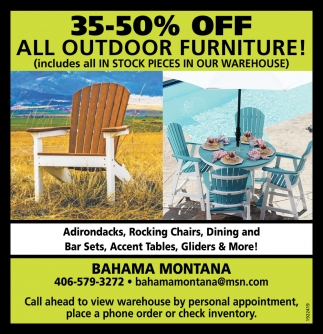 35-50% OFF All Outdoor Furniture!
