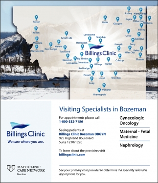 Visiting Specialists in Bozeman