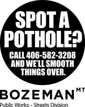Spot a Pothole?