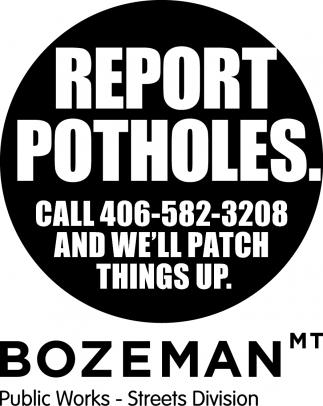 Report Potholes.